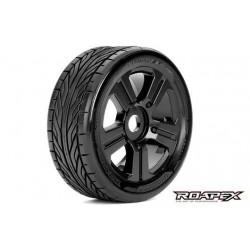 RXR5001-B Pneus - 1/8 Buggy - montés - Jantes noires - 17mm Hex - Trigger (2 pces)
