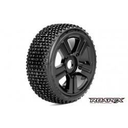 RXR5003-B Pneus - 1/8 Buggy - montés - Jantes noires - 17mm Hex - Roller (2 pces)