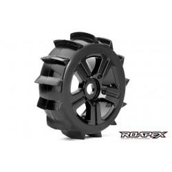 RXR5004-B Pneus - 1/8 Buggy - montés - Jantes noires - 17mm Hex - Paddle (2 pces)
