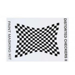 XM006L Masque de peinture - Distorted Checkers II