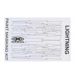 XM010L Masque de peinture - Lightning Bolts