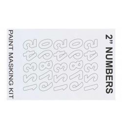 XM011L Masque de peinture - 2'' Reverse Numbers