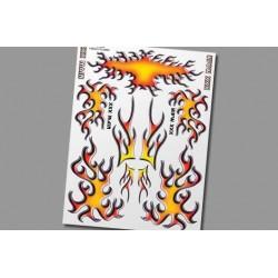 XS005 Autocollants - Freaky Flames