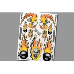 XS006 Autocollants - Skulls O'Fire