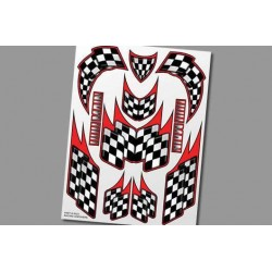 XS023 Autocollants - Racing Checkers