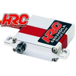 HRC68026DLA Servo - Digital - 30x10x30mm / 24g - 6.9kg/cm - Pignons métal - Boitier Aluminium Laydown - Double roulement à ..