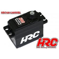 HRC68128HVBL Servo - Digital - High Voltage - 40x38x20mm / 53g - 28kg/cm - Brushless - Pignons Métal – Etanche