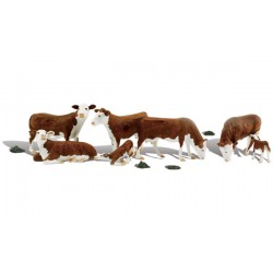WLS-A1843 HO Hereford Cows