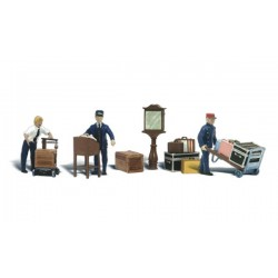WLS-A1909 HO Depot Workers & Accessories