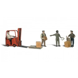 WLS-A1911 HO Workers W/Forklift