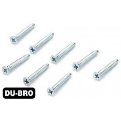 DUB2295 Screws - 3.0mm x 6 Flat-Head Self-Tapping Screws (8 pcs per package)