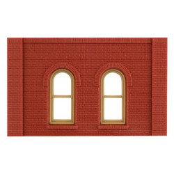 WLS-DPM30112 Single Storey Arched Window Wall (x4)