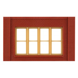 WLS-DPM30147 Single Storey Victorian Window Wall (x4)