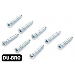 DUB2296 Screws - 3.0mm x 8 Flat-Head Self-Tapping Screws (8 pcs per package)