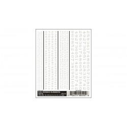 WLS-DT510 R.R. Roman Numbers - White