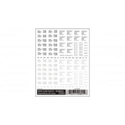 WLS-DT601 HO Box Car Data - Roman Black & White