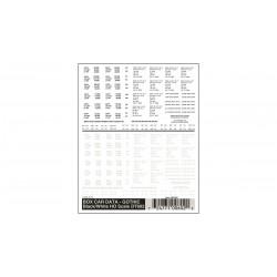 WLS-DT602 HO Box Car Data - Gothic Black & White