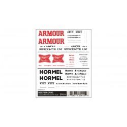 WLS-DT611 HO Reefer Cars - Armour/Miller/Hormel