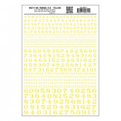 WLS-MG711 Numbers Roman R.R. Yellow