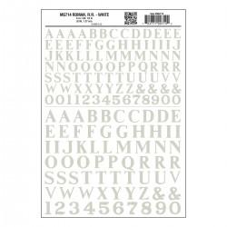 "WLS-MG714 Roman R.R. White 3/8"", ½"""