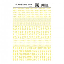 WLS-MG730 Numbers Gothic R.R. Yellow