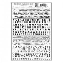 WLS-MG751 Stencil & Block Roman Black