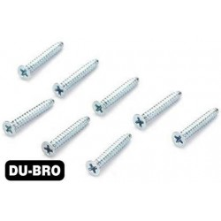 DUB2297 Screws - 3.0mm x 10 Flat-Head Self-Tapping Screws (8 pcs per package)