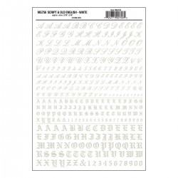 WLS-MG756 Script & Old English White