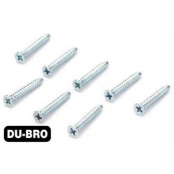DUB2299 Screws - 3.0mm x 20 Flat-Head Self-Tapping Screws (8 pcs per package)