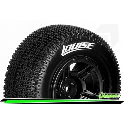 LR-T3145VBLA Louise RC - SC-MAGLEV - Set de pneus Short Course 1-10 - Monter - Super Soft - Jantes Noir - Losi TEN-SCTE 4X4