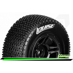 LR-T3146SBAA Louise RC - SC-GROOVE - Set de pneus Short Course 1-10 - Monter - Soft - Jantes Noir - Asso SC10 4X4