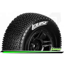 LR-T3147VBTF Louise RC - SC-TURBO - Set de pneus Short Course 1-10 - Monter - Super Soft - Jantes Noir - Hexagone 12mm