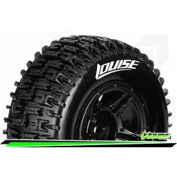 LR-T3148SBAA Louise RC - SC-PIONEER - Set de pneus Short Course 1-10 - Monter - Soft - Jantes Noir - Asso SC10 4X4