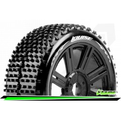 LR-T3150VB Louise RC - B-HORNET - Set de pneus Buggy 1-8 - Monter - Super Soft - Jantes a Batons Noir