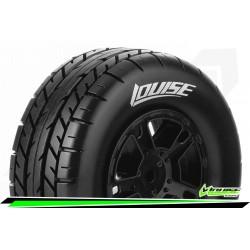 LR-T3154SBAA Louise RC - SC-ROCKET - Set de pneus Short Course 1-10 - Monter - Soft - Jantes Noir