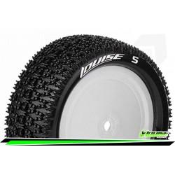 LR-T3174VWKF Louise RC - E-MAGLEV - Set de pneus Buggy 1-10 - Monter - Super Soft - Jantes Pleine Blanc