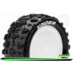 LR-T3198SWKF Louise RC - E-SPIDER - Set de pneus Buggy 1-10 - Monter - Soft - Jantes Pleine Blanc