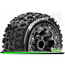 LR-T3200SBC Louise RC - ST-SPIDER - Set de pneus Truck 1-16 - Monter - Sport - Jantes 2.2 Chrome-Noir