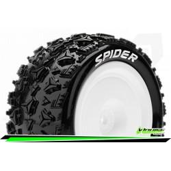 LR-T3200SWKR Louise RC - E-SPIDER - Set de pneus Buggy 1-10 - Monter - Soft - Jantes Pleine Blanc