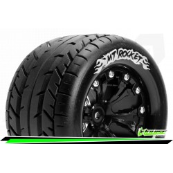 LR-T3201SBM Louise RC - MT-ROCKET - Set de pneus Monster Truck 1-10 - Monter - Sport - Jantes 2.8 Noir