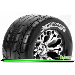 LR-T3201SCH Louise RC - MT-ROCKET - Set de pneus Monster Truck 1-10 - Monter - Sport - Jantes 2.8 Chrome