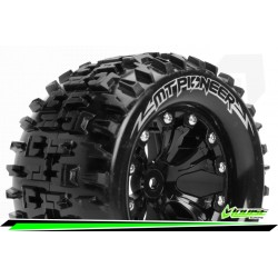 LR-T3202SB Louise RC - MT-PIONEER - Set de pneus Monster Truck 1-10 - Monter - Sport - Jantes 2.8 Noir