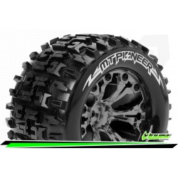 LR-T3202SBCM Louise RC - MT-PIONEER - Set de pneus Monster Truck 1-10 - Monter - Sport - Jantes 2.8 Chrome-Noir
