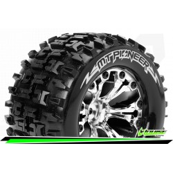 LR-T3202SCH Louise RC - MT-PIONEER - Set de pneus Monster Truck 1-10 - Monter - Sport - Jantes 2.8 Chrome