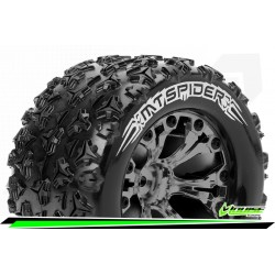 LR-T3203SBCM Louise RC - MT-SPIDER - Set de pneus Monster Truck 1-10 - Monter - Sport - Jantes 2.8 Chrome-Noir