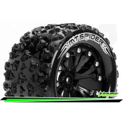 LR-T3203SBH Louise RC - MT-SPIDER - Set de pneus Monster Truck 1-10 - Monter - Sport - Jantes 2.8 Noir