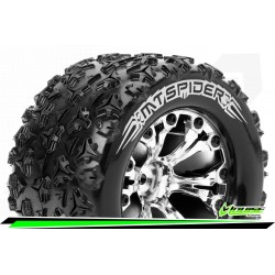 LR-T3203SCH Louise RC - MT-SPIDER - Set de pneus Monster Truck 1-10 - Monter - Sport - Jantes 2.8 Chrome