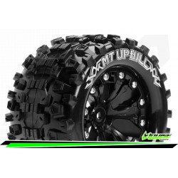 LR-T3204SB Louise RC - MT-UPHILL - Set de pneus Monster Truck 1-10 - Monter - Sport - Jantes 2.8 Noir
