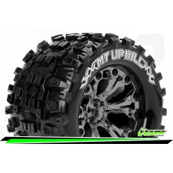 LR-T3204SBCM Louise RC - MT-UPHILL - Set de pneus Monster Truck 1-10 - Monter - Sport - Jantes 2.8 Chrome-Noir