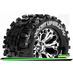 LR-T3204SCH Louise RC - MT-UPHILL - Set de pneus Monster Truck 1-10 - Monter - Sport - Jantes 2.8 Chrome